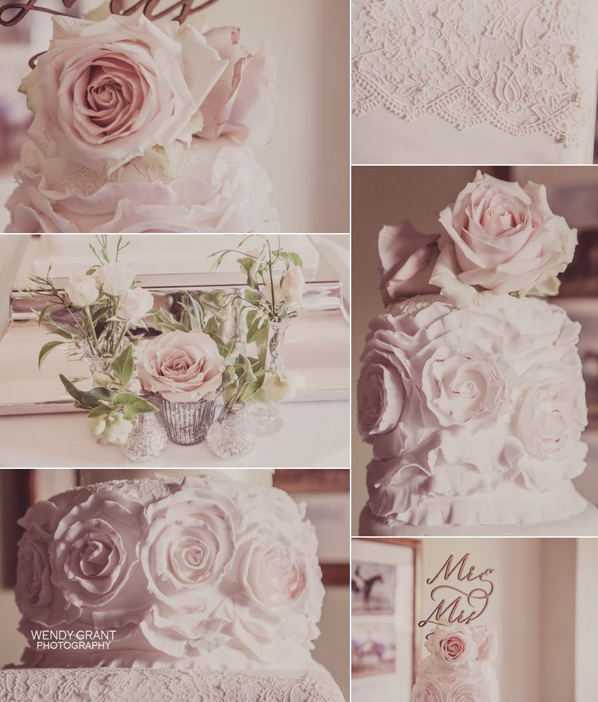 Blush Pink Roses in Mercury Silver Vases Kelmarsh Hall Wedding Florist Passion for Flowers (13)
