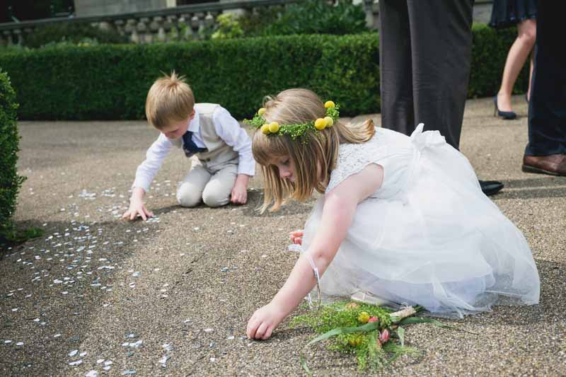flower girl and page boy confetti