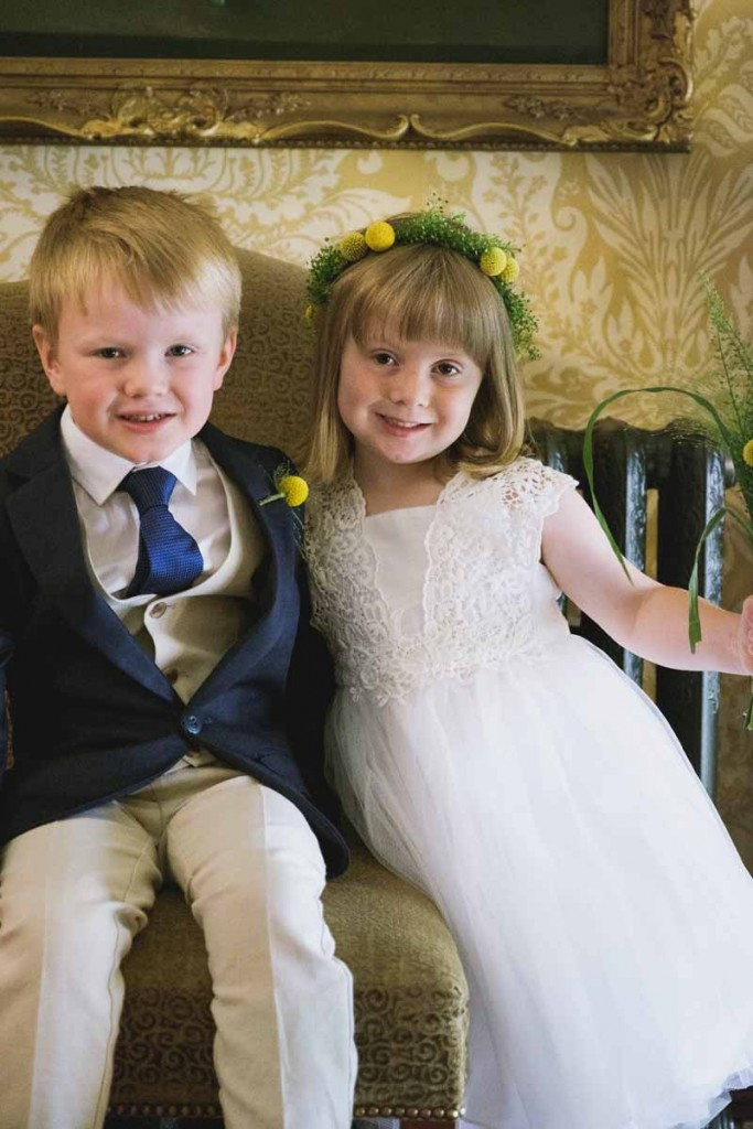 flower girl and page boy wedding flowers