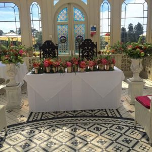 kilworth house ceremony table in orangery summer wedding