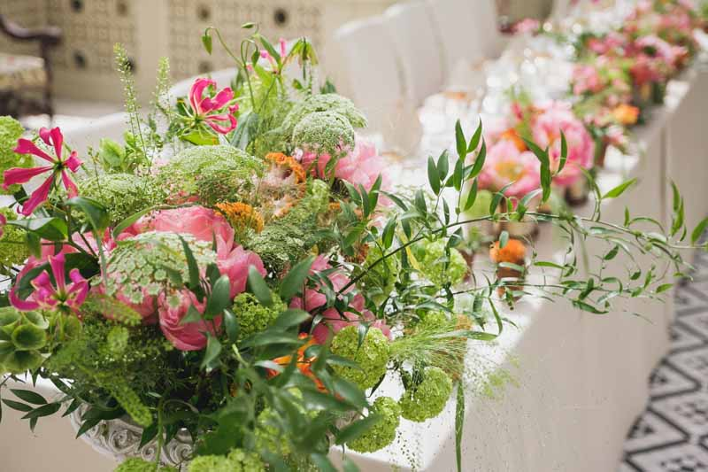 top table wedding flowers luxe wedding by Passion for Flowers (1)