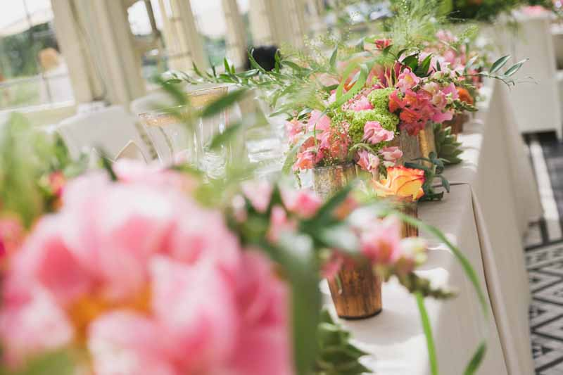 top table wedding flowers luxe wedding by Passion for Flowers (2)