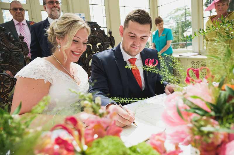 wedding ceremony flowers Kilworth House luxe wedding urns and statement flowers in Orangery (1)