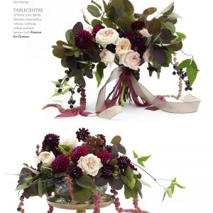 deep purple maroon wedding flowers bouquets and centrepieces by passion for flowers in wedding flowers magazine