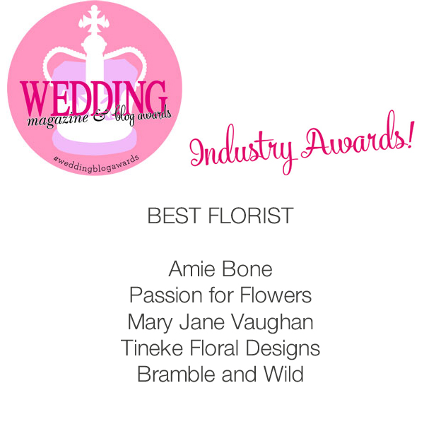 passion for flowers wedding magazine awards