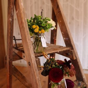 rustic ladders table plan by passion for flowers