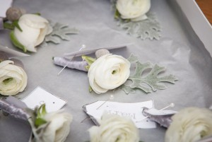 white and grey winter button holes by @kmorganflowers Passion for Flowers