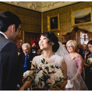 Elegant English wedding ceremony at manor house - flowers by Passion for Flowers (1)