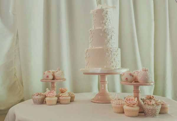 Blush pink wedding cakes