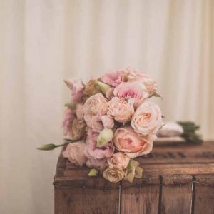 Classic dusky pink rose bridal bouquet by Passion for Flowers @kmorganflowers