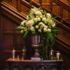 Elegant gold urn welcome flowers by @kmorganflowers Passion for Flowers at Hampton Manor
