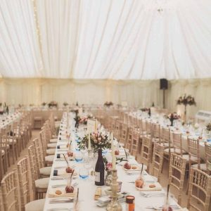 Long tables at weddings flowers by @kmorganflowers Passion for Flowers (2)