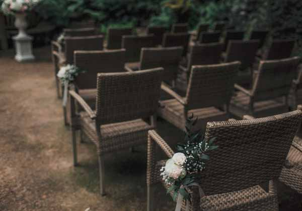 Outdoor wedding ceremony Moxhull Hall flowers by @kmorganflowers (1)