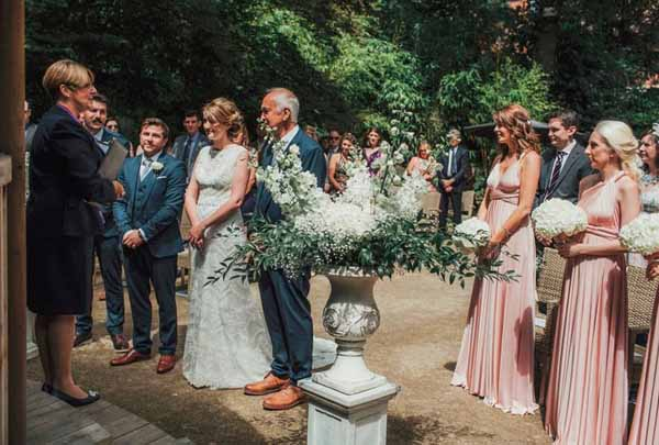 OUTDOOR WEDDING CEREMONY AT MOXHULL HALL
