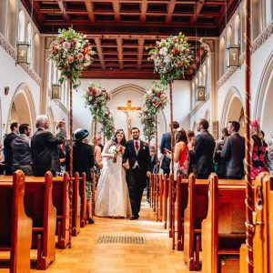 Rustic Elegant Church Wedding Flowers by @kmorganflowers Passion for Flowers (2)