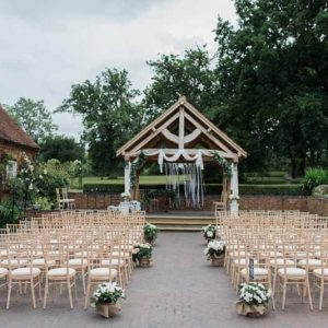 Outdoor wedding ceremony Wethele Manor by Passion for Flowers @kmorganflowers