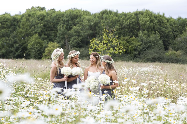 Bridesmaids flower crowns by Passion for Flowers an Elmore Court wedding
