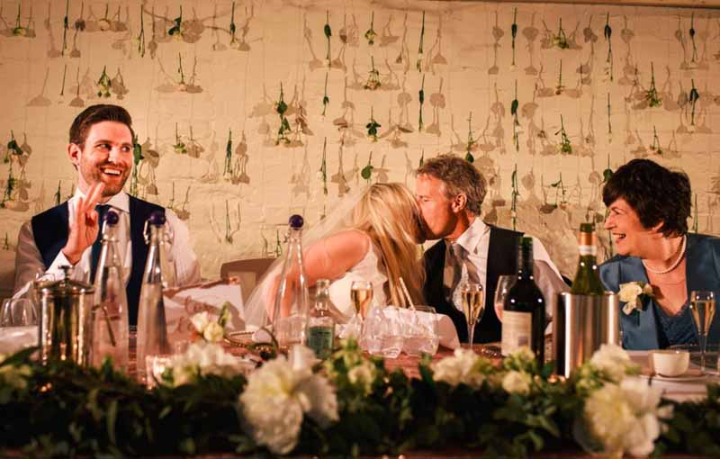 flower wall backdrop to top table by passion for flowers @kmorganflowers at curradine barns