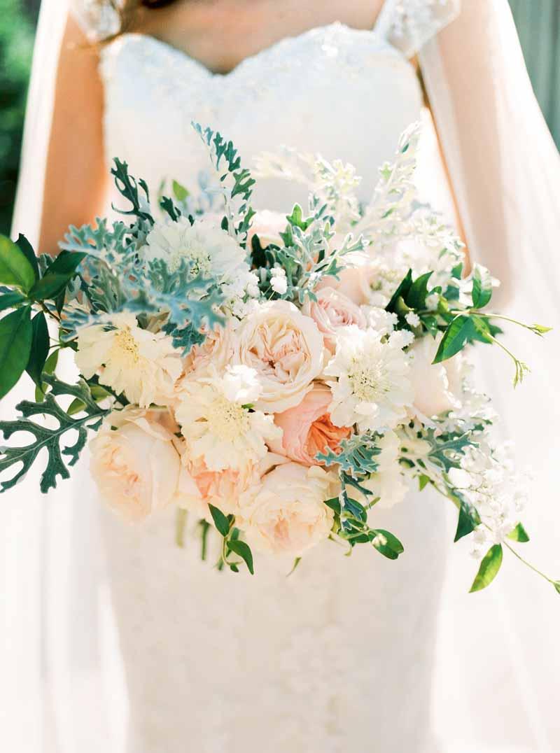 Soft Romantic Elegant Wedding Flowers Peach Grey Passion For