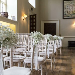 Wedding ceremony at Elmore Court by Passion for Flowers
