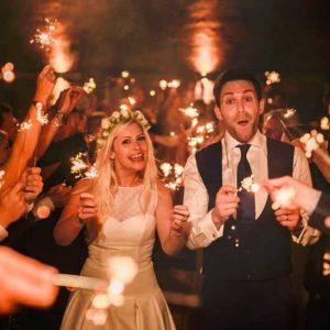 wedding send off sparklers curradine barns