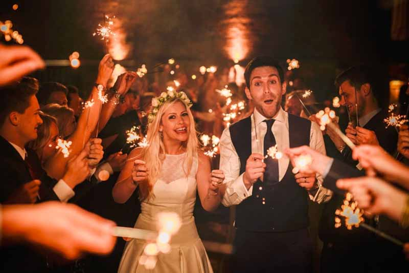 wedding send off sparklers curradine barns