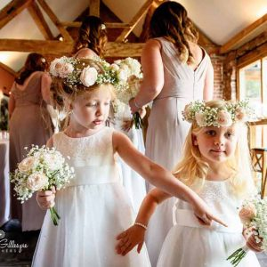 Cute flower girls flower crowns hair flowers and bouquets by Passion for Flowers