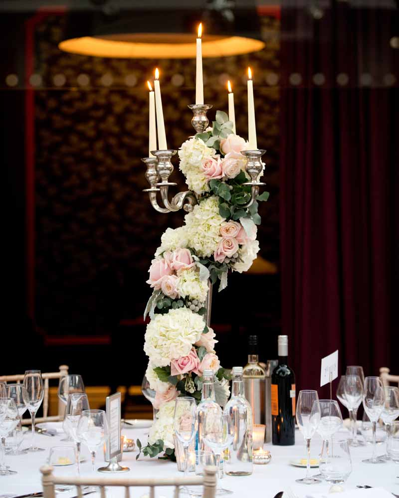 Hampton Manor Wedding Florist - Candelabra Centrepieces by Passion for Flowers @kmorganflowers