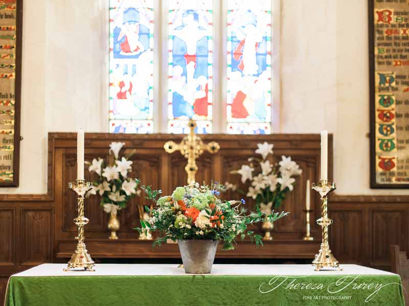 Rustic church wedding flowers in buckets for bright summer wedding by Passion for Flowers @kmorganflowers