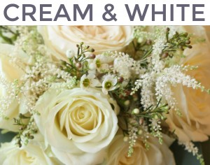 cream and white flower mix