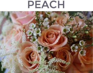 peach flower mix