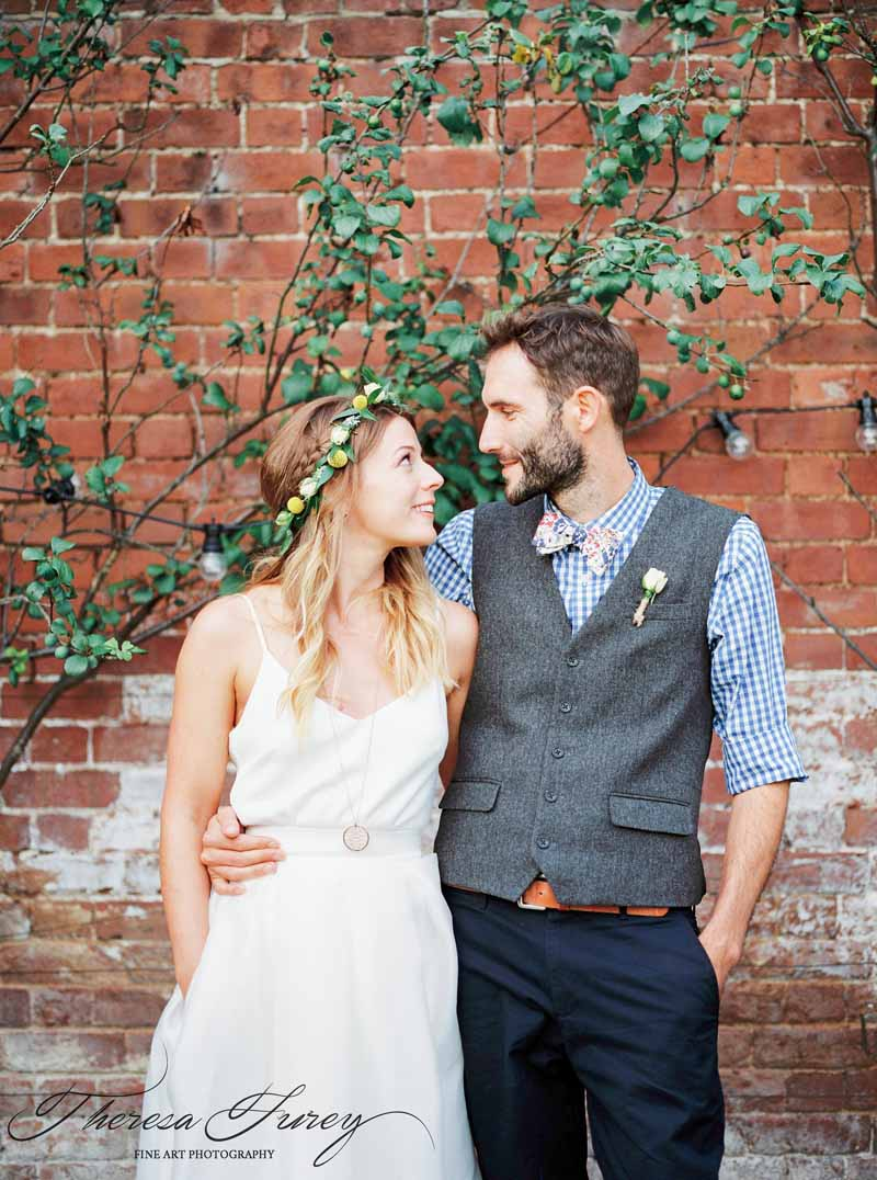 pretty flower crown for bride relaxed summer wedding flowers by Passion for Flowers @kmorganflowers
