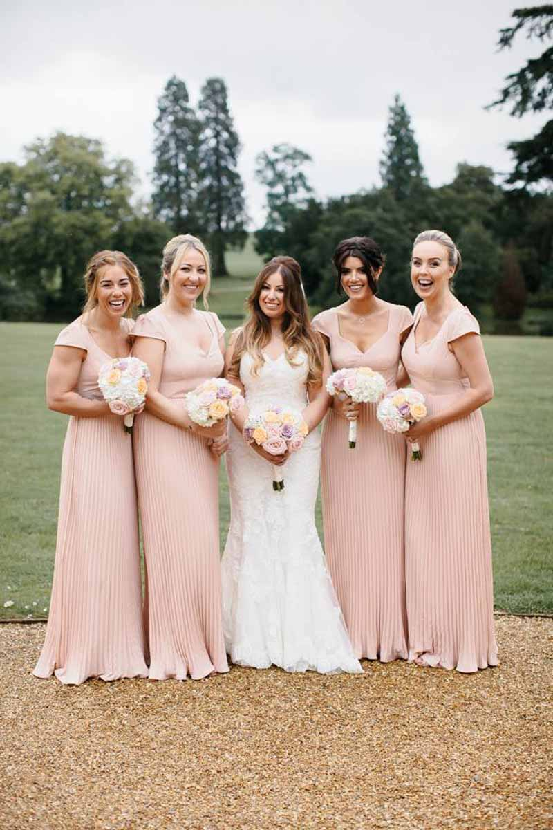 blush-pink-bridesmaids-dresses-bouquets-by-passion-for-flowers