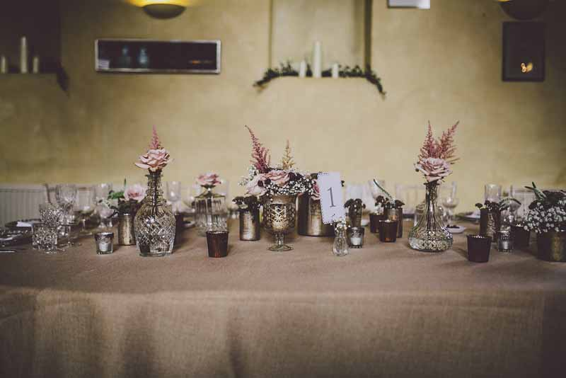 Sudeley Castle Wedding Flowers - top table