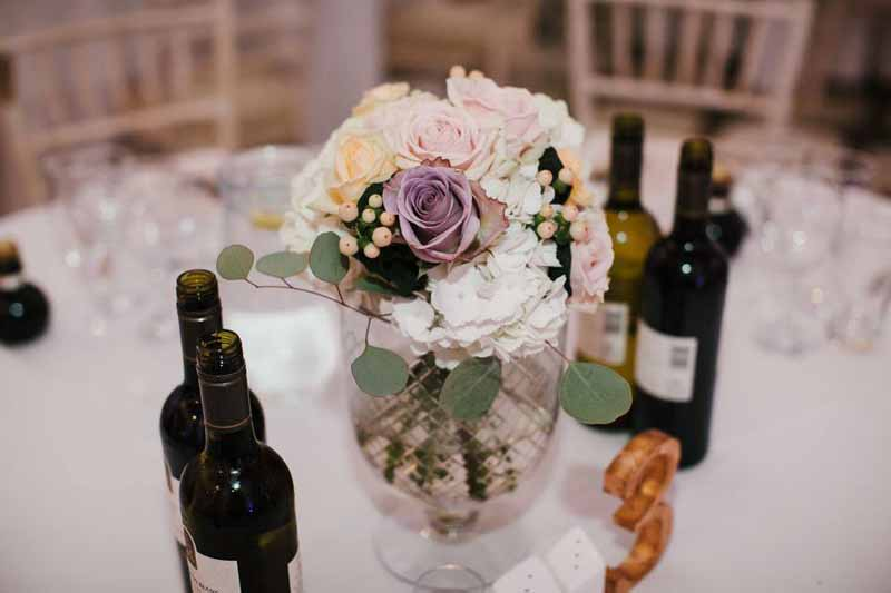 low-glass-vase-wedding-centrepiece-compnton-verney-wedding