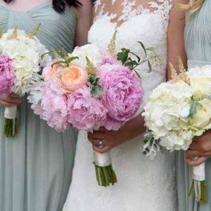 pink-penies-bridal-bouquets-hydrangea-bouquets-bridesmaids