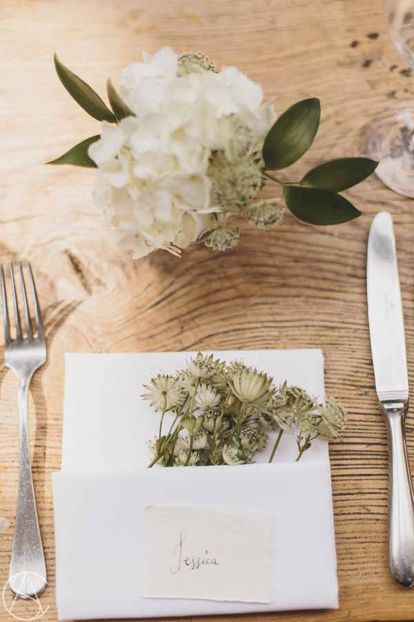 place-settings-natural-astrantia-hydrangeas-calligraphy-hampton-manor-wedding-florist-passion-for-flowers-29