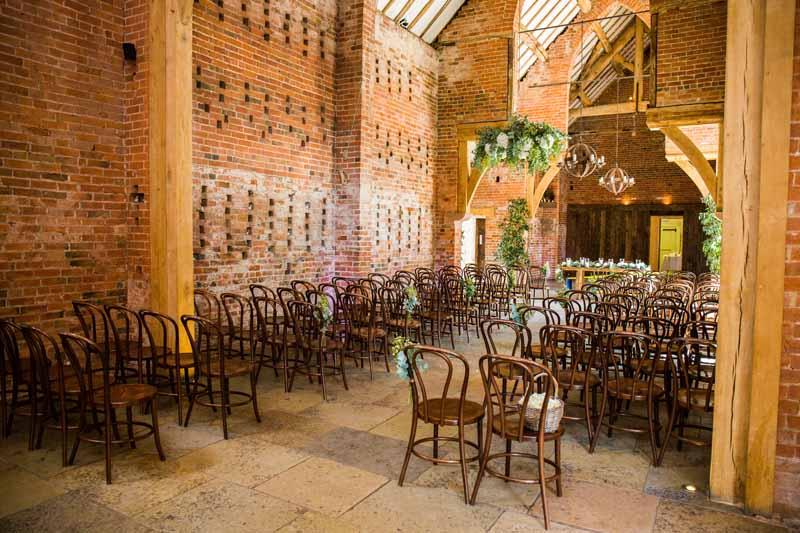 Shustoke Farm Barns Wedding Flowers Rustic Ceremony