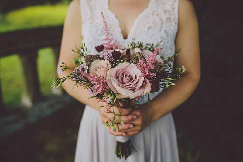 dusky-pink-rose-bouquet-loose-with-astilbe-foliage-sudeley-castle