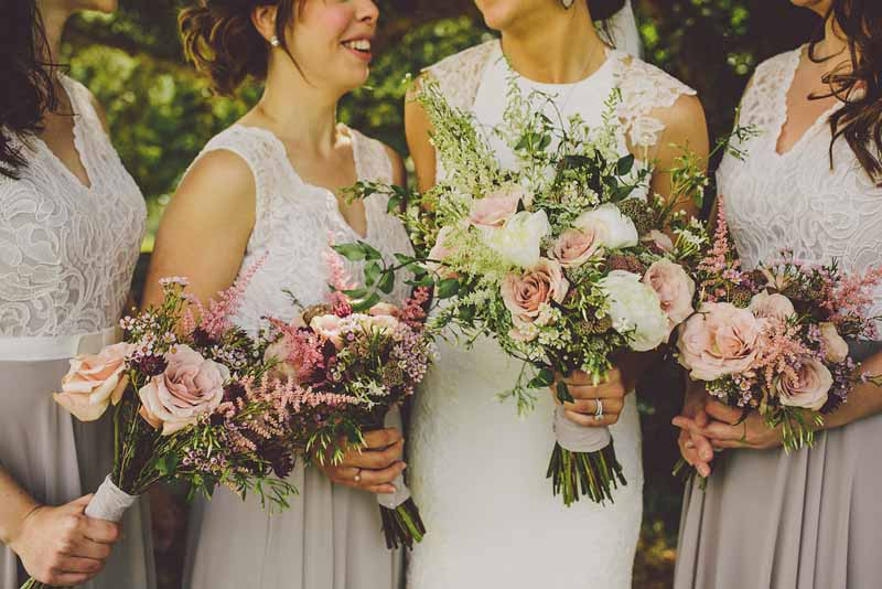 Pink wedding flowers passion for flowers relaxed style bouquets dusky pink roses sudeley castle mightylinksfo