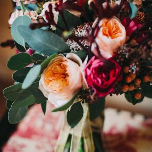 autumn-wedding-bouquet-deep-red-pink-peach-david-austin-roses-by-kmorganflowers-1
