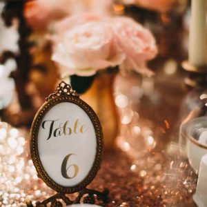 table-numbers-in-small-gold-frames-knowsley-hall-passion-for-flowers-kmorganflowers