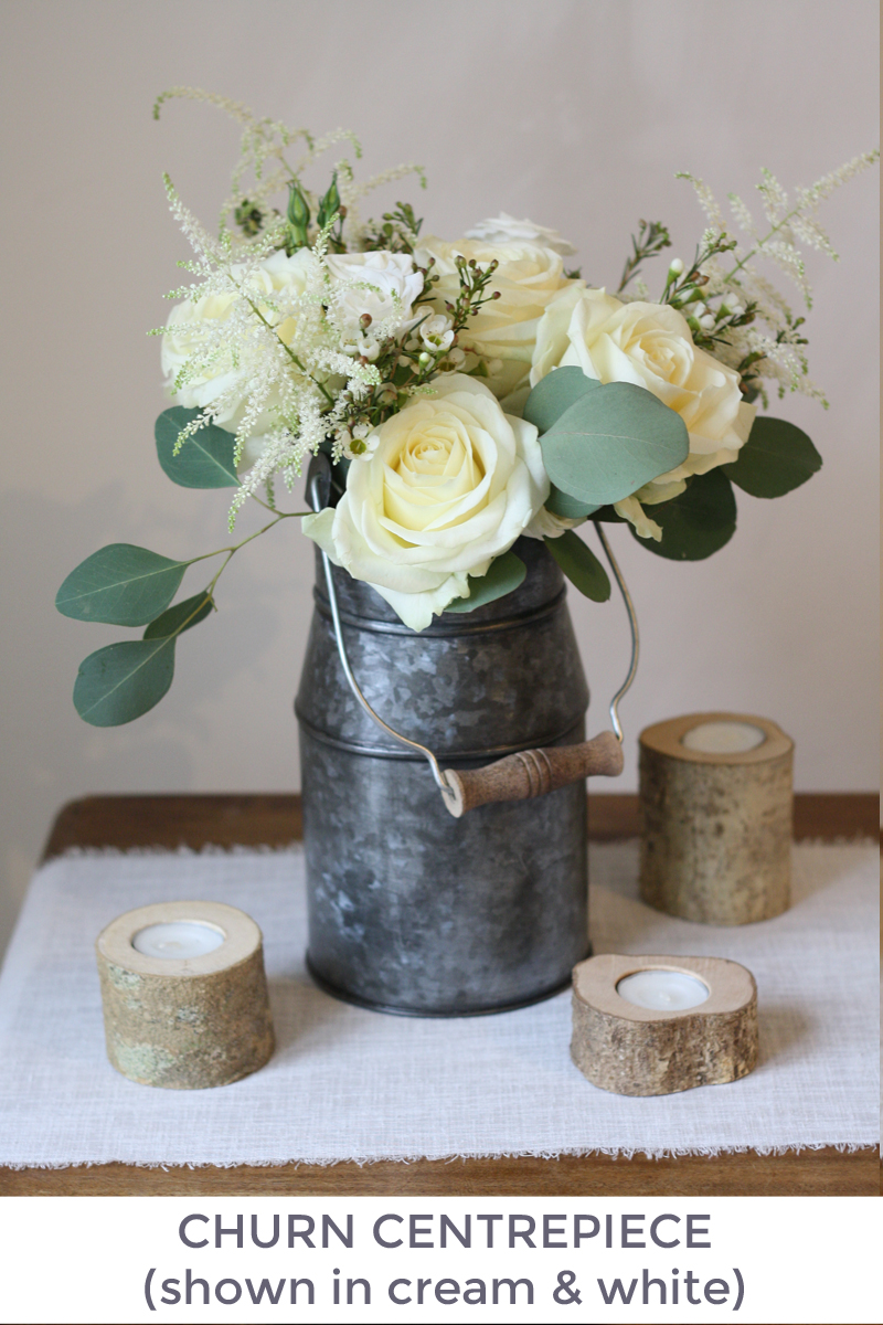 Churn wedding centrepiece