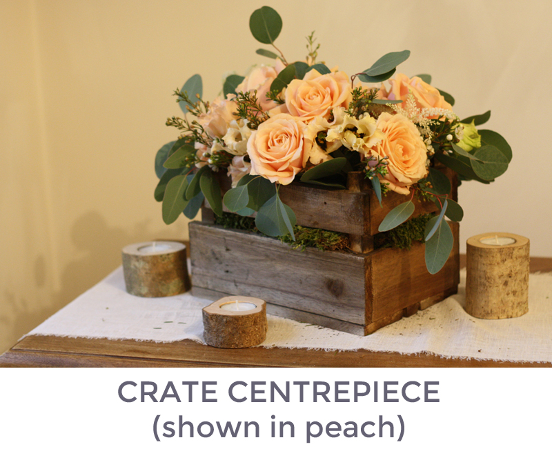 Crate centrepiece example
