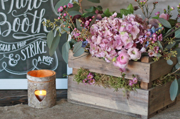 Rustic Country Style Wedding Centrepiece Workshop by Passion for Flowers