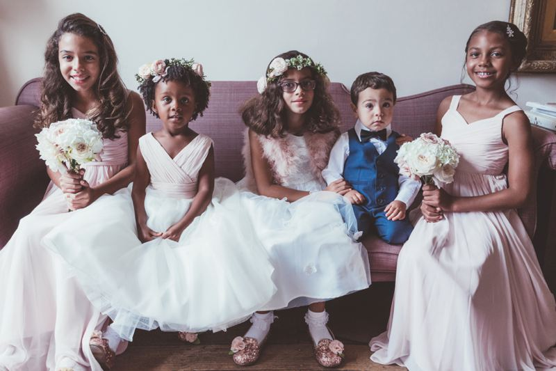 Flower crowns and boquets for flower girls