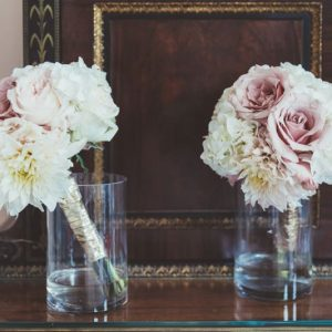Nude pink white bridesmaids bouquets by Passion for Flowers