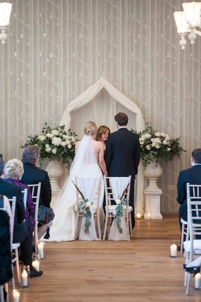 Hampton Manor Wedding Florist Passion for Flowers Wedding Ceremony Flowers and styling - urns