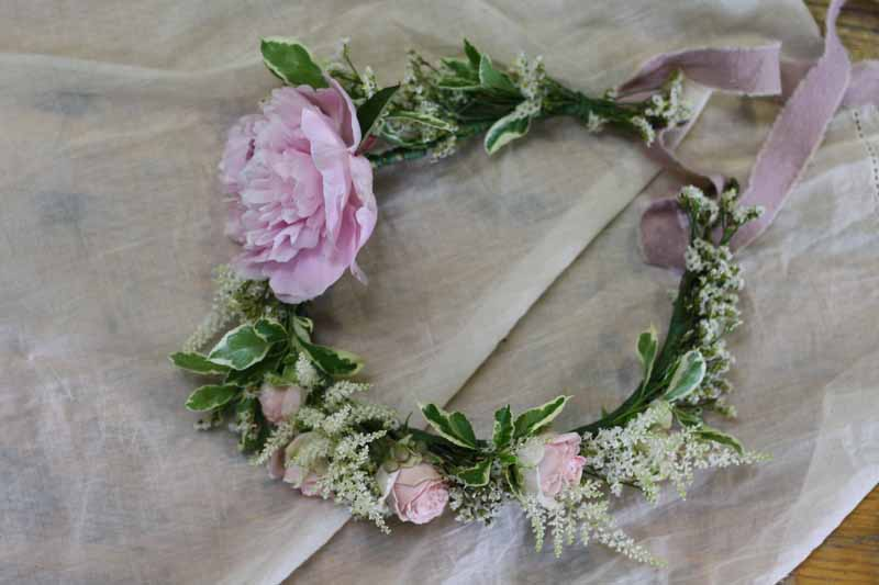 Flower crowns Peonies learn how to make these with Karen Morgan Passion for Flower 1-2-1 flower class (2)