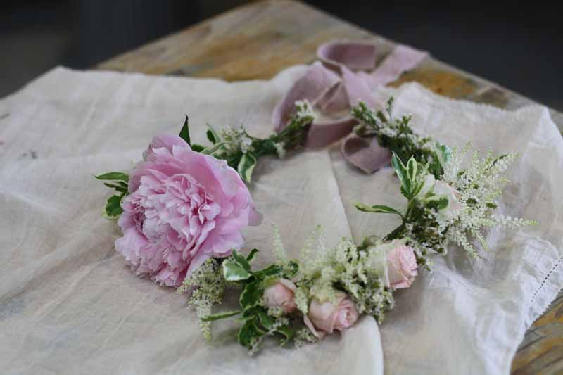 Flower crowns Peonies learn how to make these with Karen Morgan Passion for Flower 1-2-1 flower class (4)